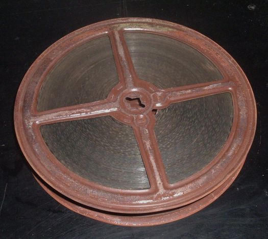 Rusty 16mm film reel Daniel D. Teoli Jr. Archival Colletion