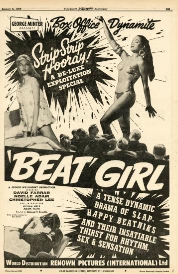 Beatnik Girl Epehemera Daniel D. Teoli Jr. Archival Collection .