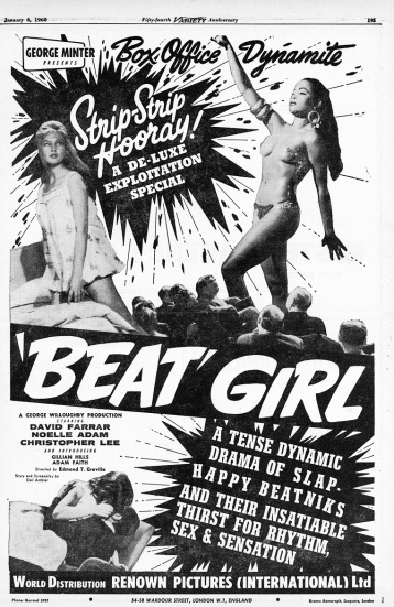 Beatnik Girl Epehemera Daniel D. Teoli Jr. Archival Collection