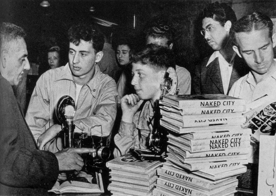 weegee signing books at store naked city D.D. Teoli Jr. A.C.