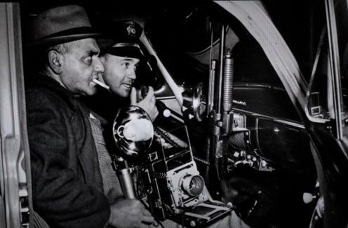 weegee in police car D.D. Teoli Jr. A.C.