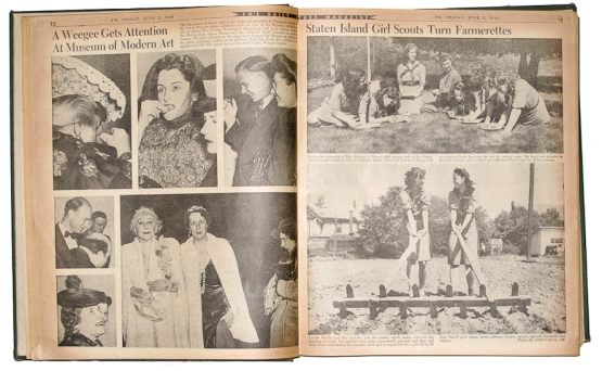 Weegee newspaper clipping D.D. Teoli Je. A.C (1)